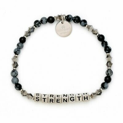 Little Words Project Silver STRENGTH Bracelet