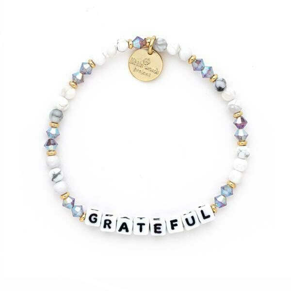 Little Words White GRATEFUL Bracelet