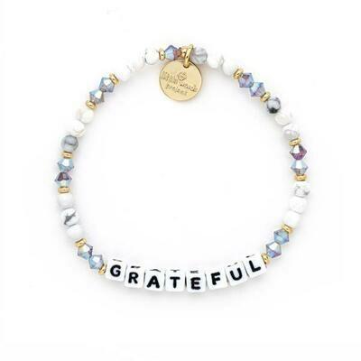 Little Words White GRATEFUL Bracelet