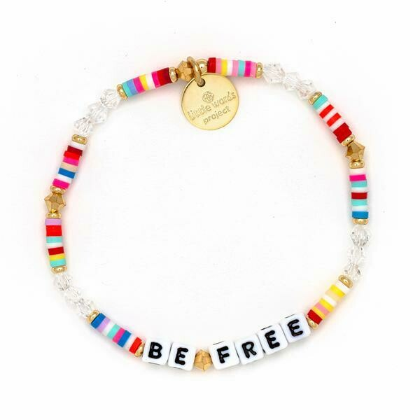 Little Words Project White BE FREE Bracelet