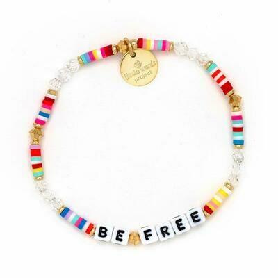 Little Words Project White BE FREE Bracelet