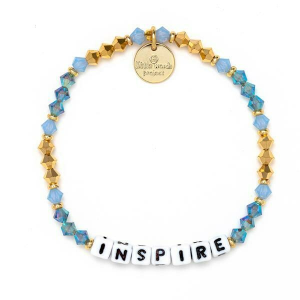Little Words Project White INSPIRE Bracelet