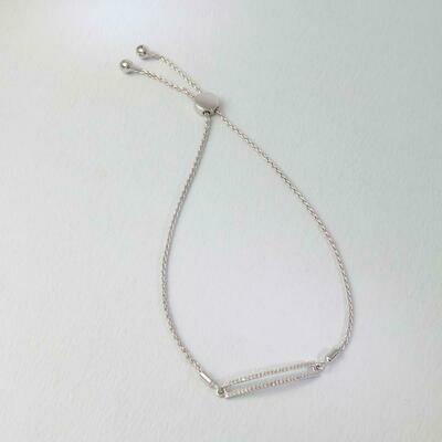 Ella Stein Set the Bar Bracelet (Silver)