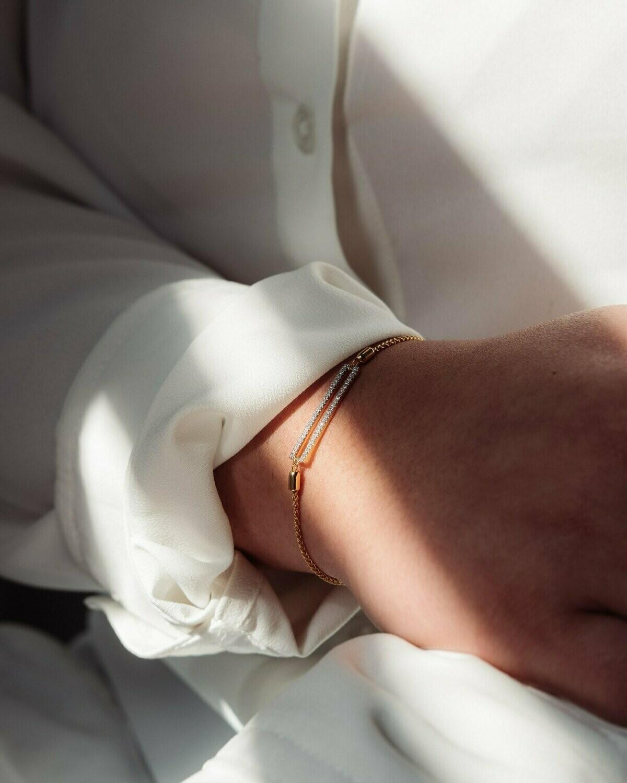 Ella Stein Set the Bar Bracelet (Gold)