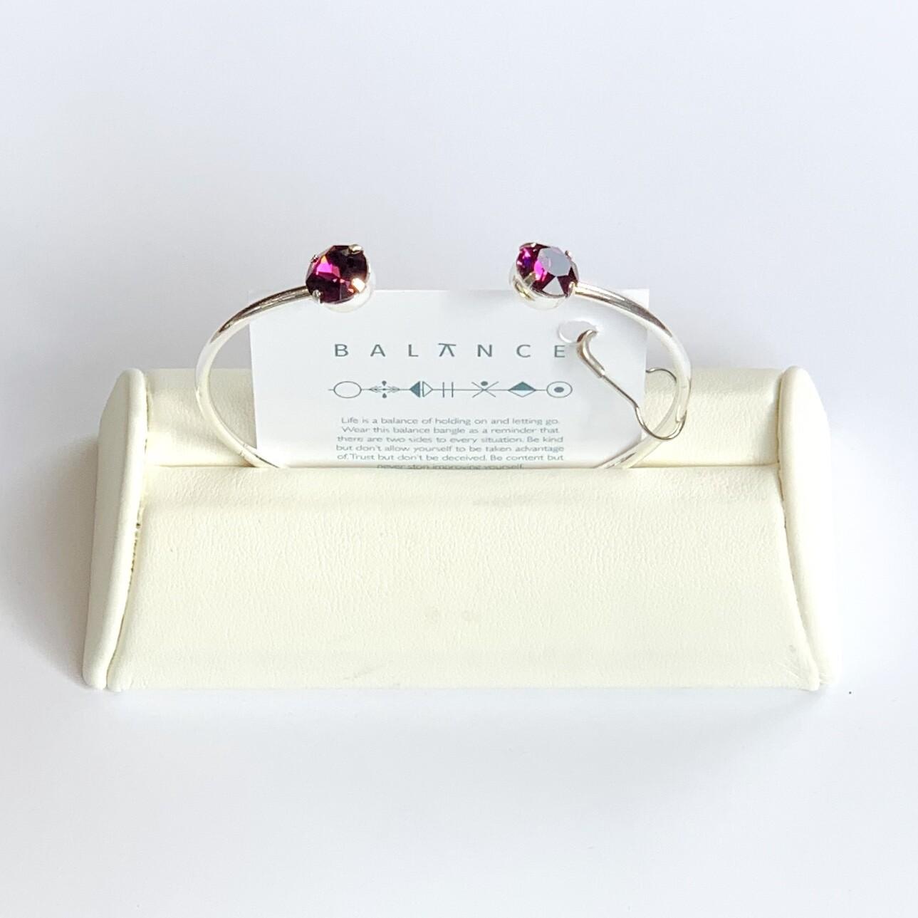 Balance Bracelet Silver/Amethyst