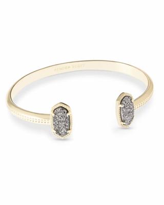Kendra Scott Gold Cuff Bracelet In Platinum Drusy