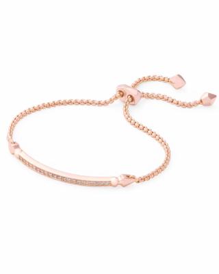 Kendra Scott Ott Adjustable Chain Bracelet In Rose Gold