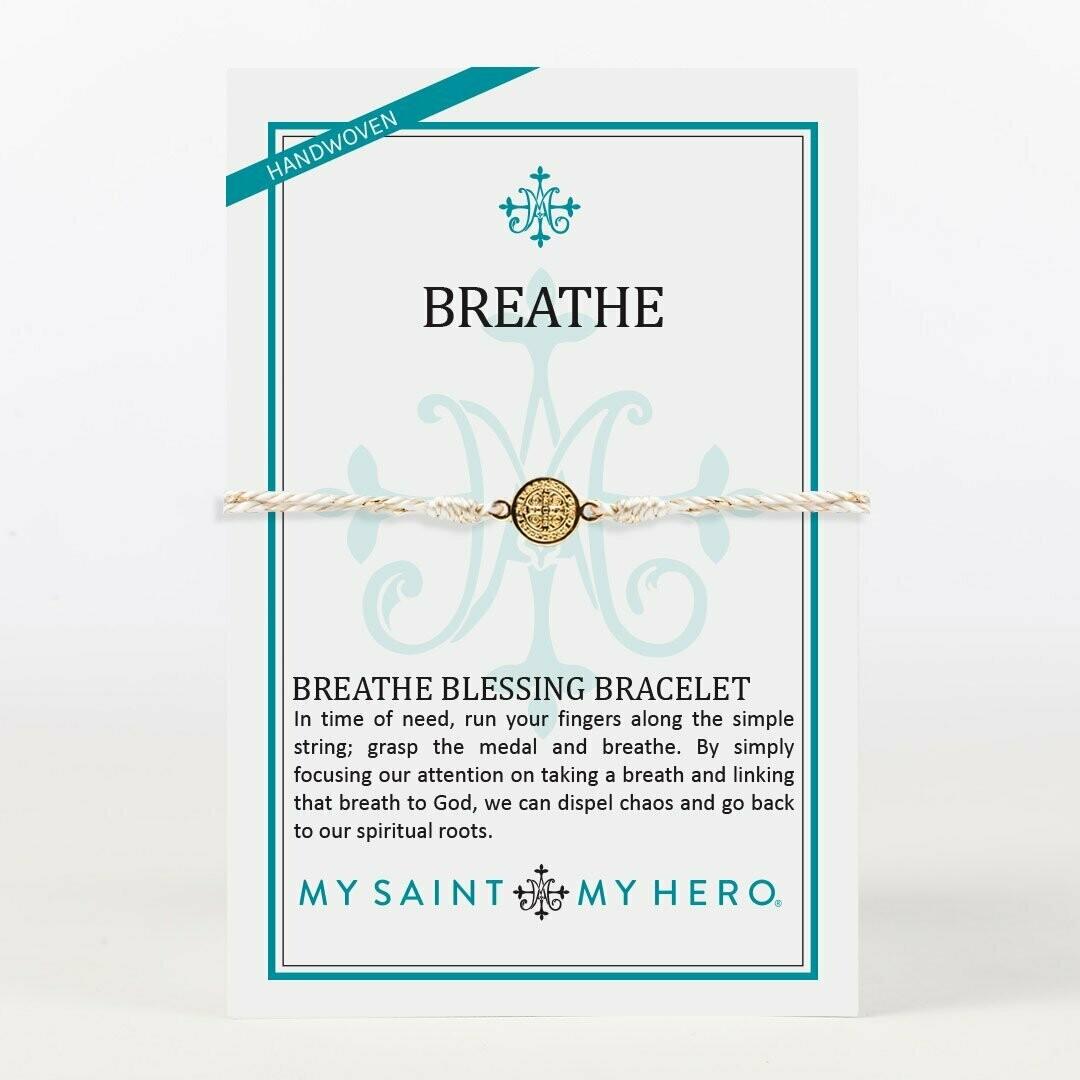 MSMH Breathe Blessing Bracelet (Gold/Metallic Gold)