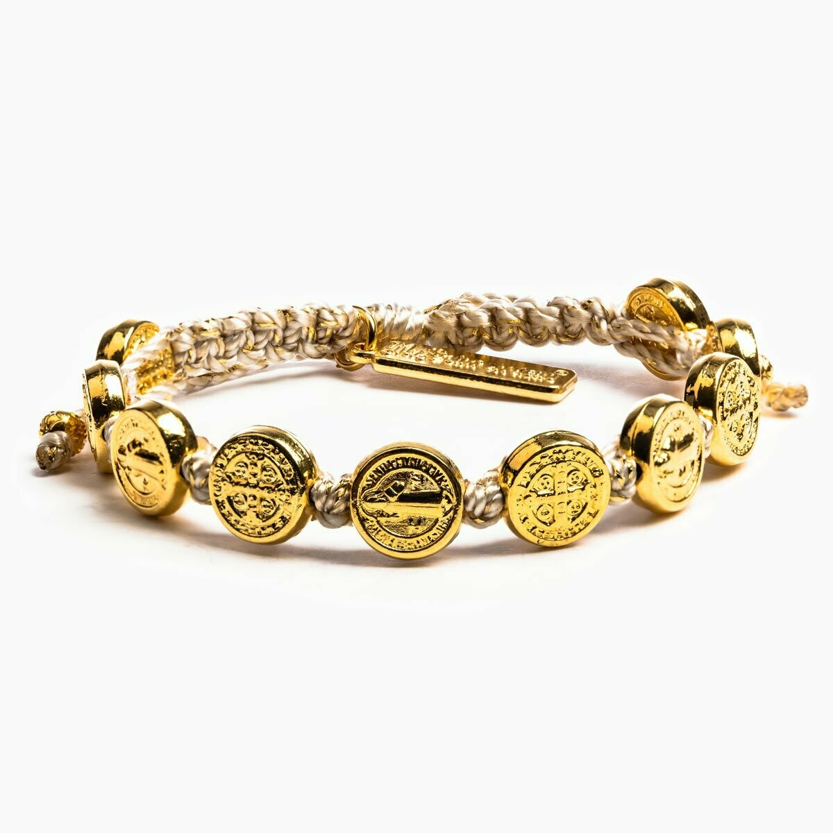 MSMH Benedictine Blessing Bracelet (Gold/Metallic Gold)