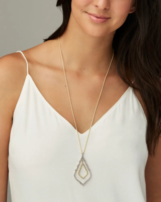 Kendra Scott Simon Long Pendant Necklace In Mixed Metal