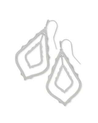 Kendra Scott Simon Drop Earrings In Silver