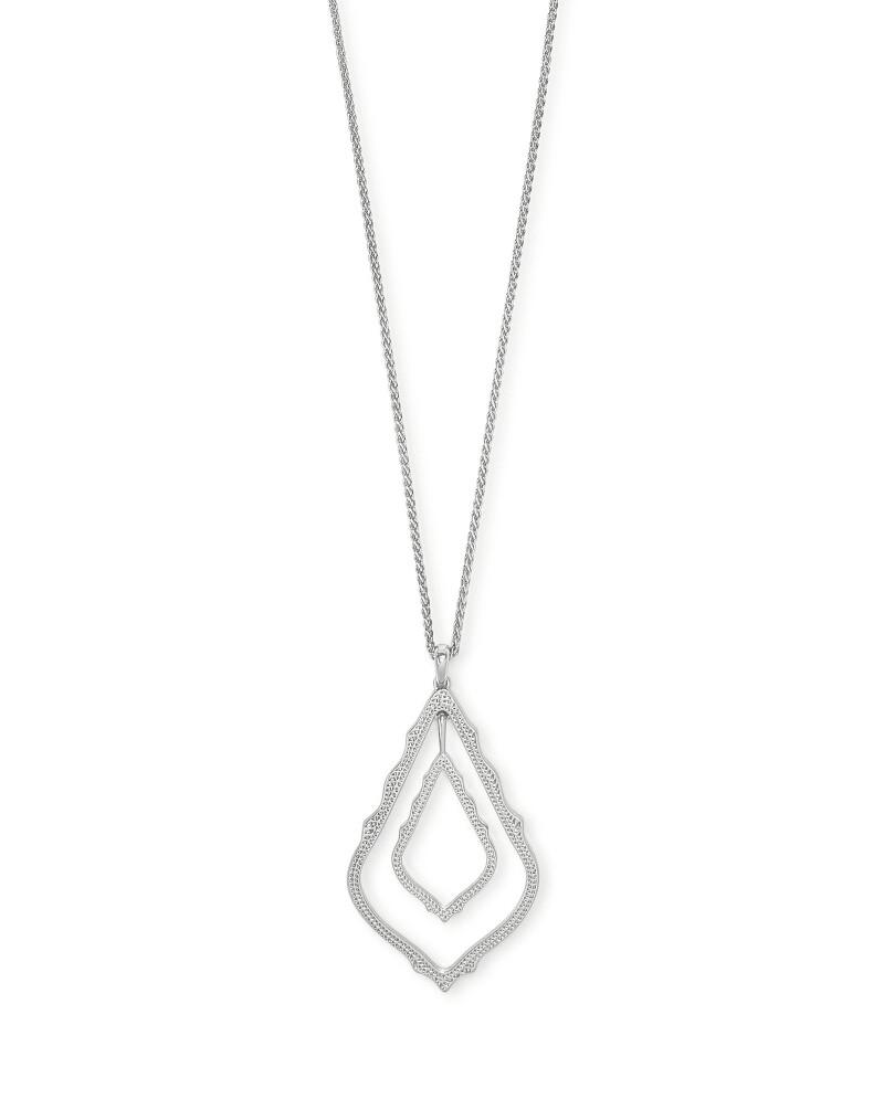 Kendra Scott Simon Long Pendant Necklace In Silver
