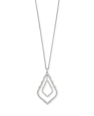 Kendra Scott Simon Long Pendant Necklace In Silver