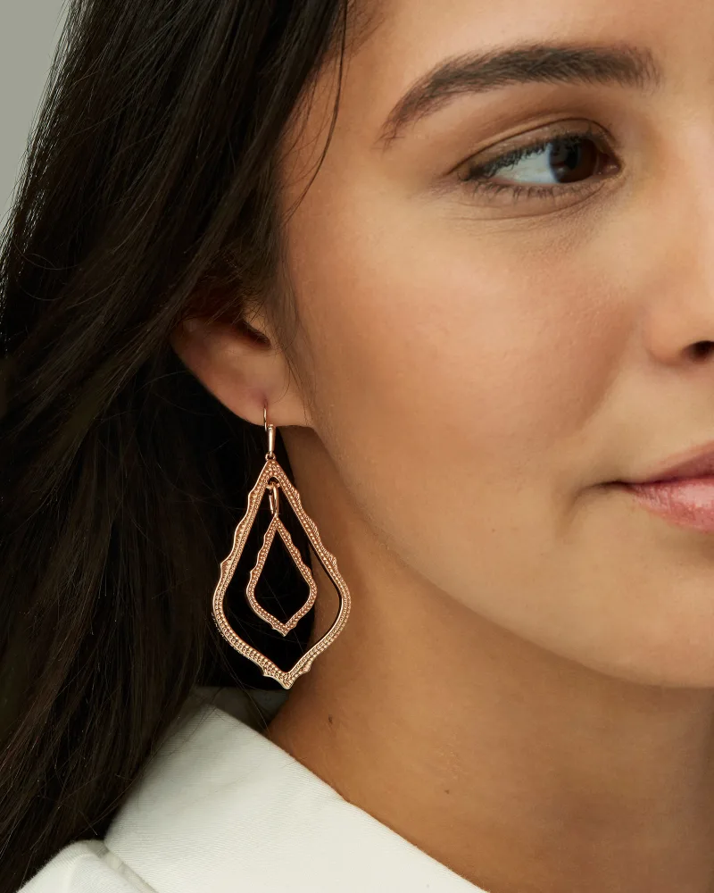 Kendra Scott Simon Drop Earrings In Rose Gold