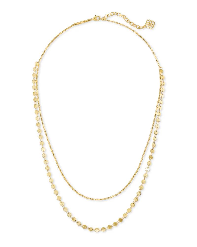Kendra Scott Sydney Multi Strand Necklace In Gold