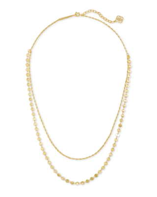 Kendra Scott Sydney Multi Strand Necklace In Gold
