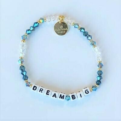 Little Words Project White DREAM BIG Bracelet