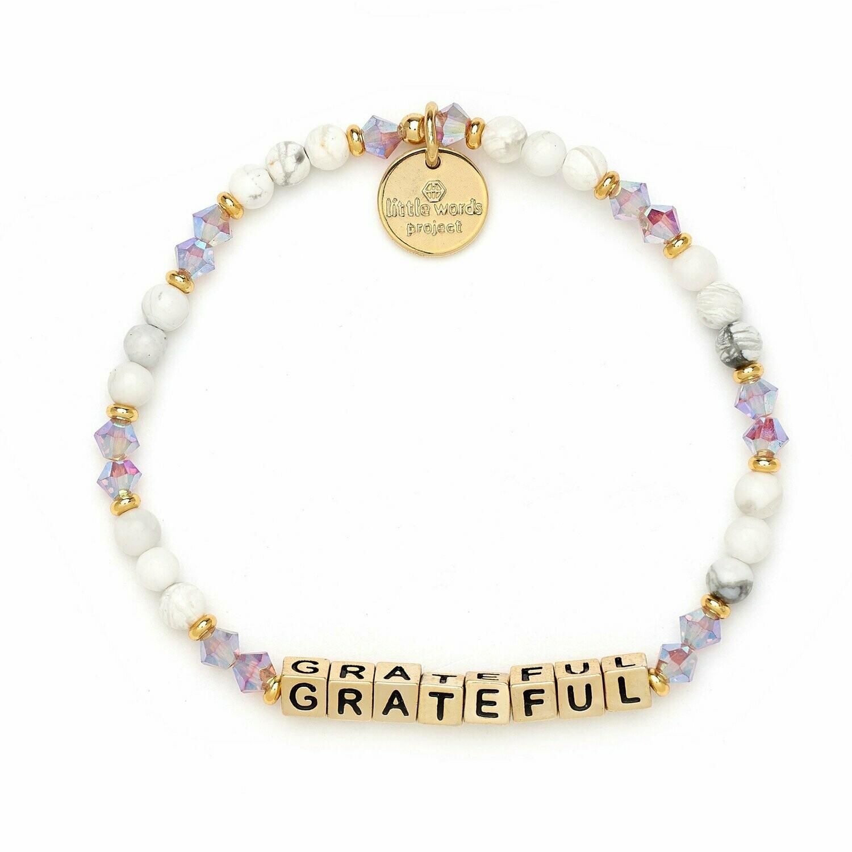Little Words Project Gold GRATEFUL Bracelet