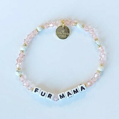 Little Words Project White FUR MAMA Bracelet