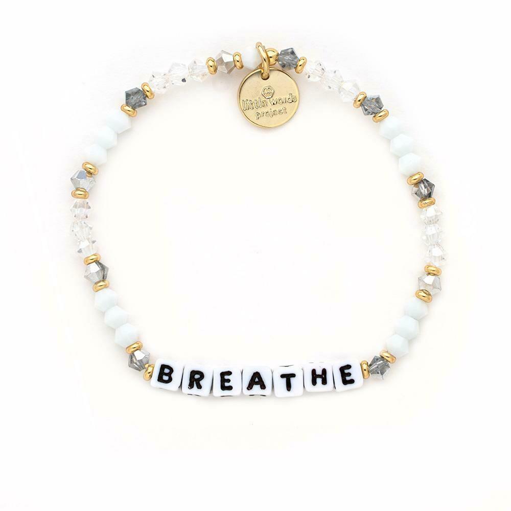 Little Words Project White BREATHE Bracelet