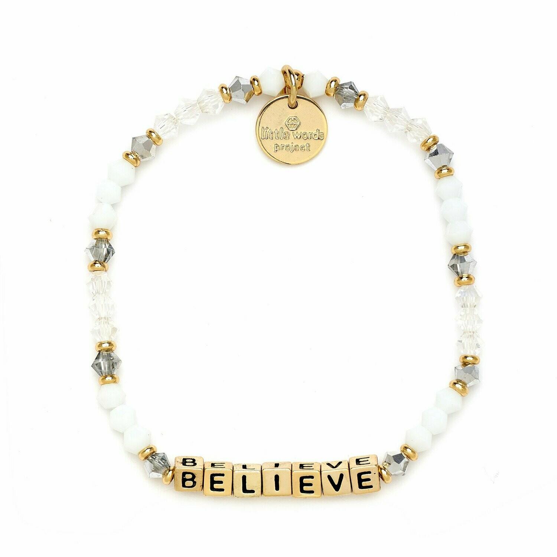 Little Words Project Gold BELIEVE Bracelet