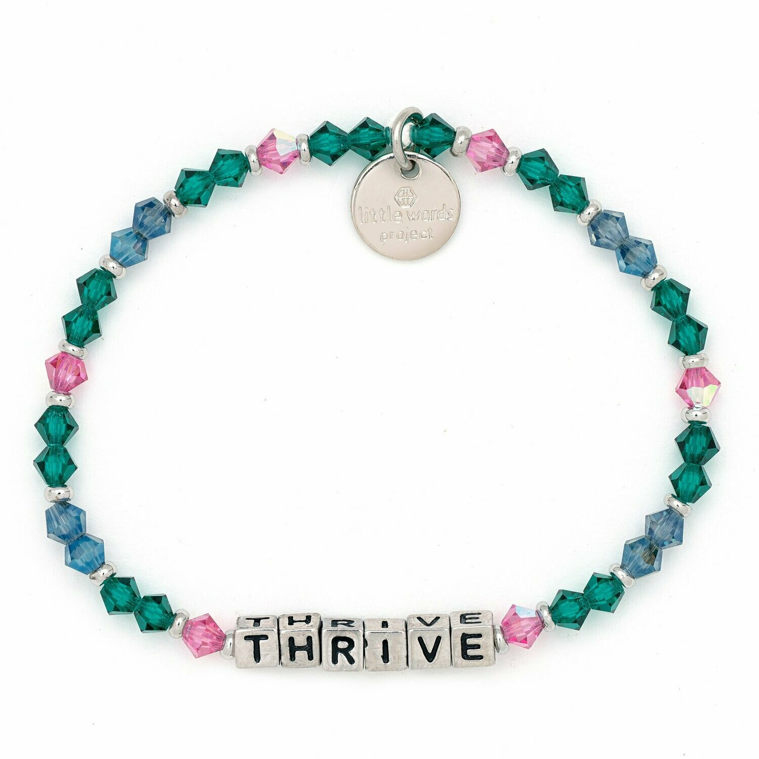 Little Words Project Silver THRIVE Bracelet