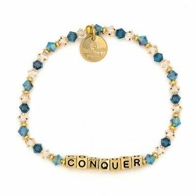Little Words Project Gold CONQUER Bracelet