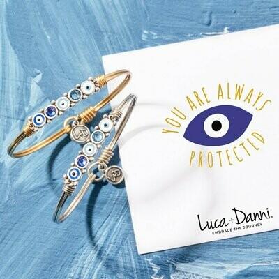 Luca + Danni Blue Ombre Evil Eye Bracelet