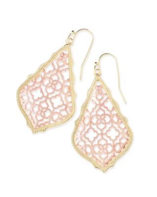 Kendra Scott Addie Gold Drop Earrings in Rose Gold Filigree