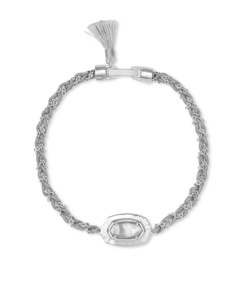 Kendra Scott Anna Silver Friendship Bracelet In Gray Illusion