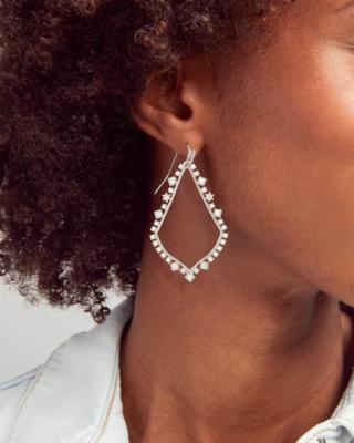 Kendra Scott Sophee Crystal Drop Earrings In Silver