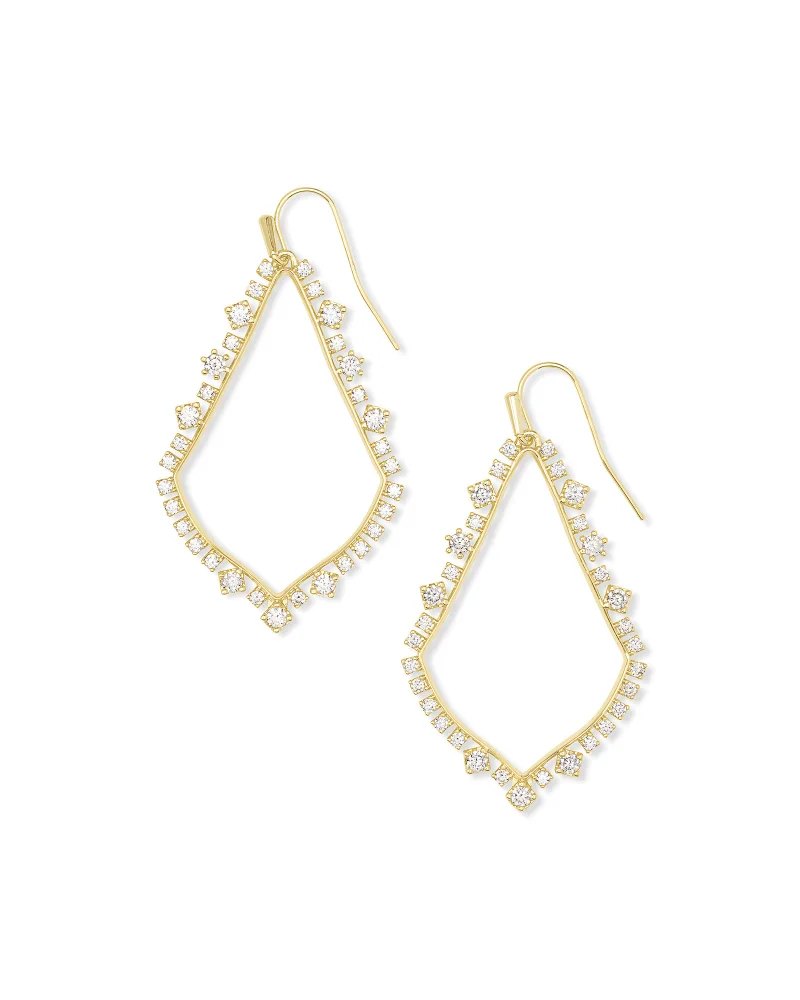 Kendra Scott Sophee Crystal Drop Earrings In Gold