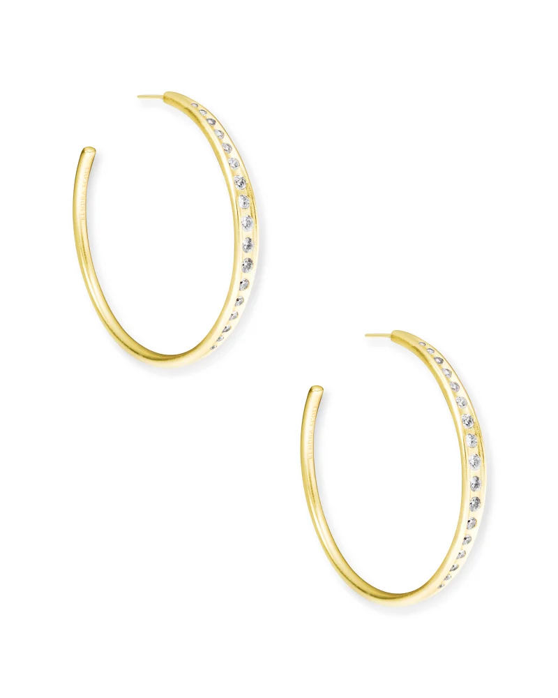 Kendra Scott Selena Hoop Earrings In Gold