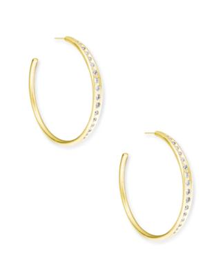Kendra Scott Selena Hoop Earrings In Gold