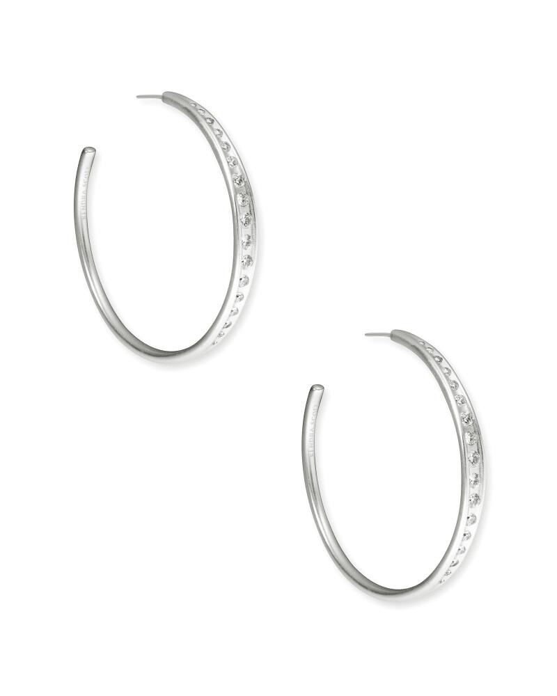 Kendra Scott Selena Hoop Earrings in Silver