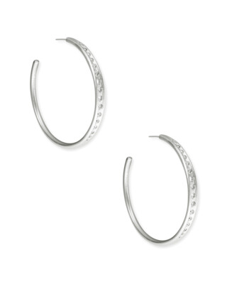Kendra Scott Selena Hoop Earrings in Silver
