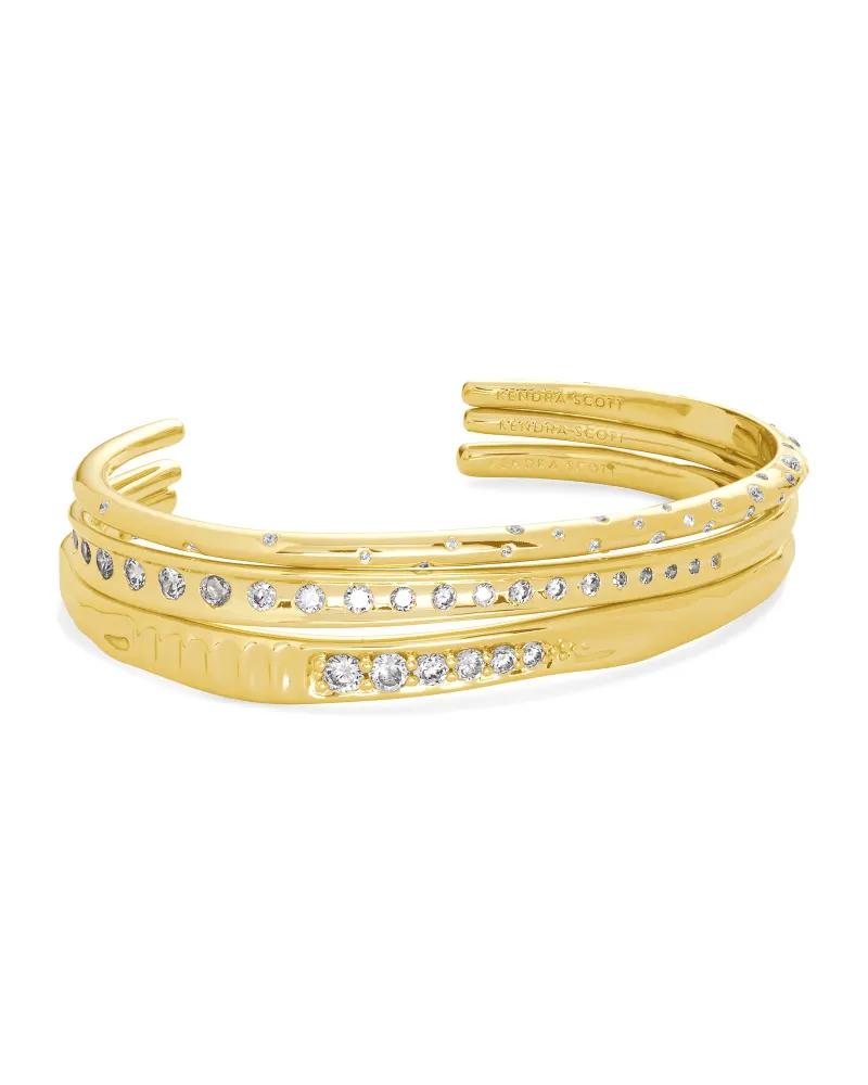Kendra Scott Selena Cuff Bracelet Set of 3 in Gold
