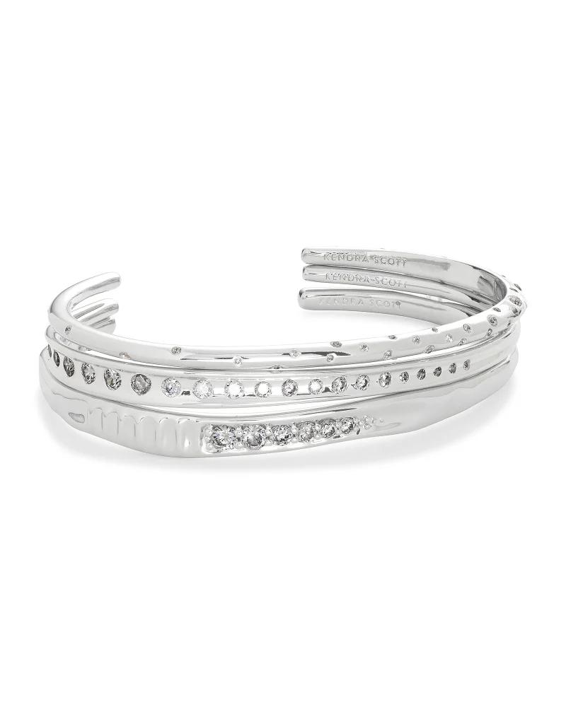 Kendra Scott Selena Cuff Bracelet Set of 3 in Silver