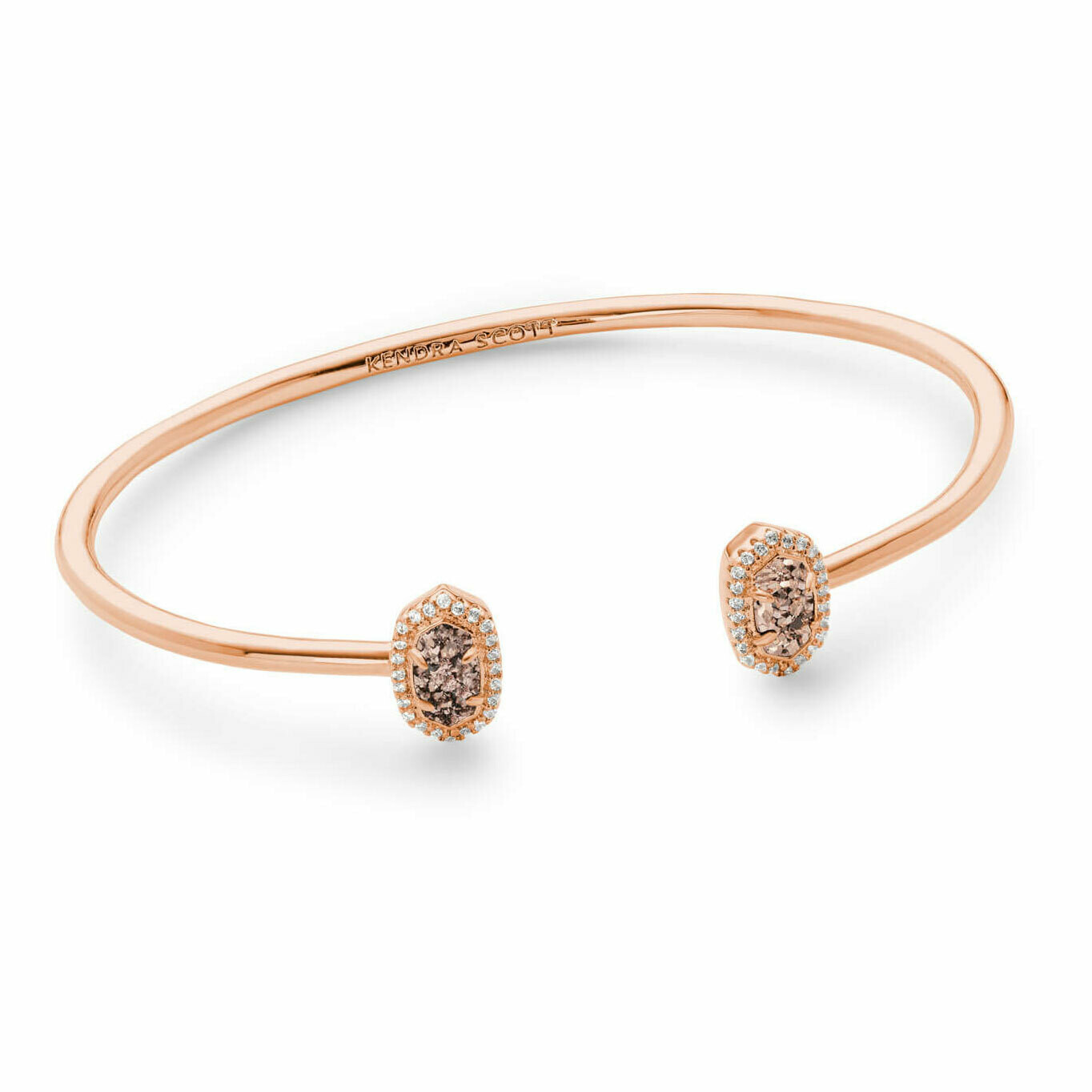 Kendra Scott Calla Rose Gold Cuff Bracelet in Rose Gold Drusy