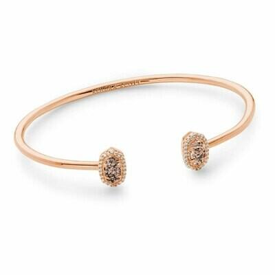 Kendra Scott Calla Rose Gold Cuff Bracelet in Rose Gold Drusy