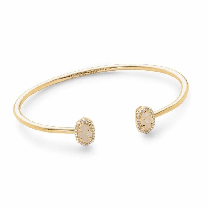 Kendra Scott Calla Gold Cuff Bracelet in Iridescent Drusy