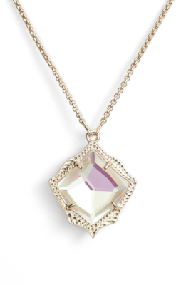 Kendra Scott Kacey Gold Long Pendant Necklace in Dichroic Glass