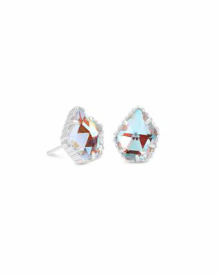 Kendra Scott Tessa Silver Stud Earrings in Dichroic Glass