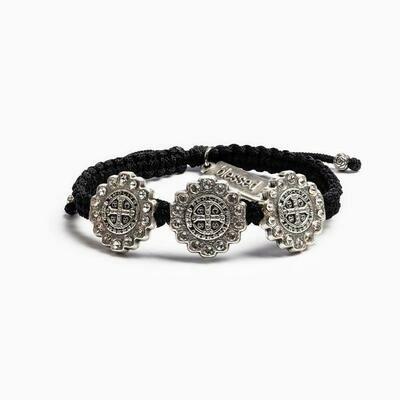MSMH Brilliance Trinity Bracelet (Silver/Black)