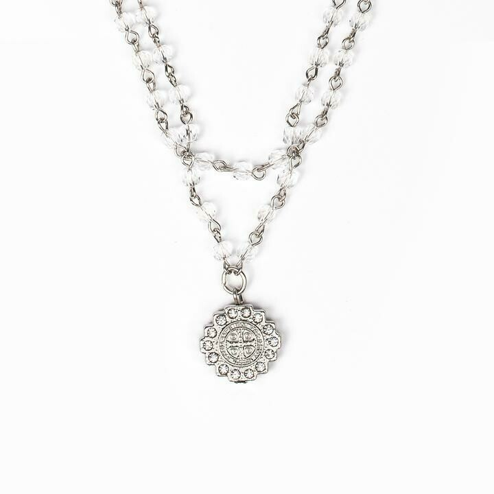 MSMH Brilliance Layer of Light Necklace (Silver)