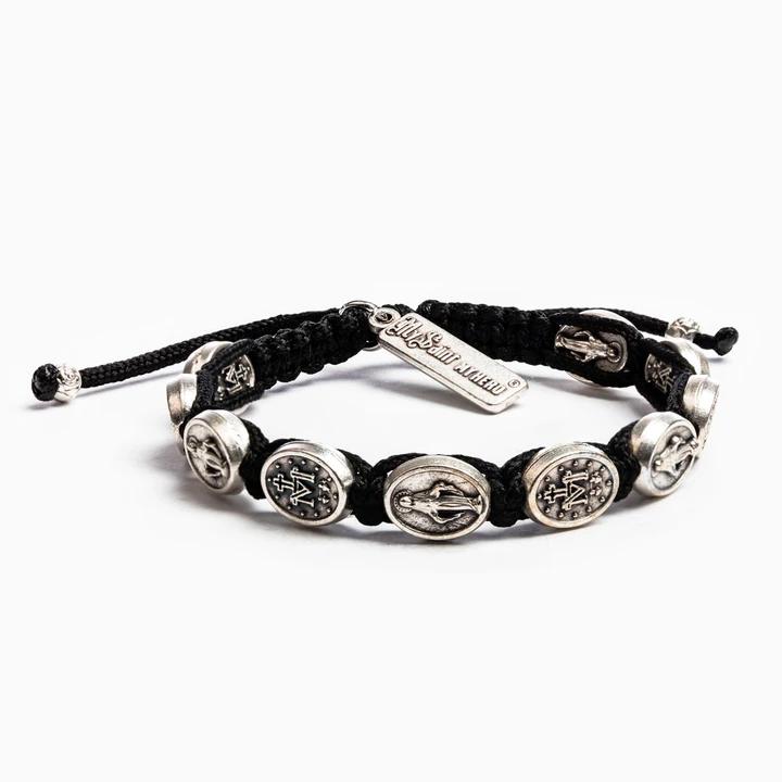 MSMH Miraculous Mary Blessing Bracelet (Silver/Black)