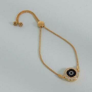 Ella Stein Evil Eye Bolo Bracelet (Gold)