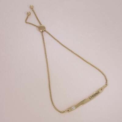 Ella Stein I Am Strong Bracelet (Gold)