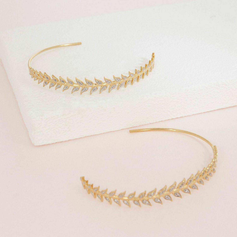Ella Stein Leaf It All Behind Earrings (Gold)