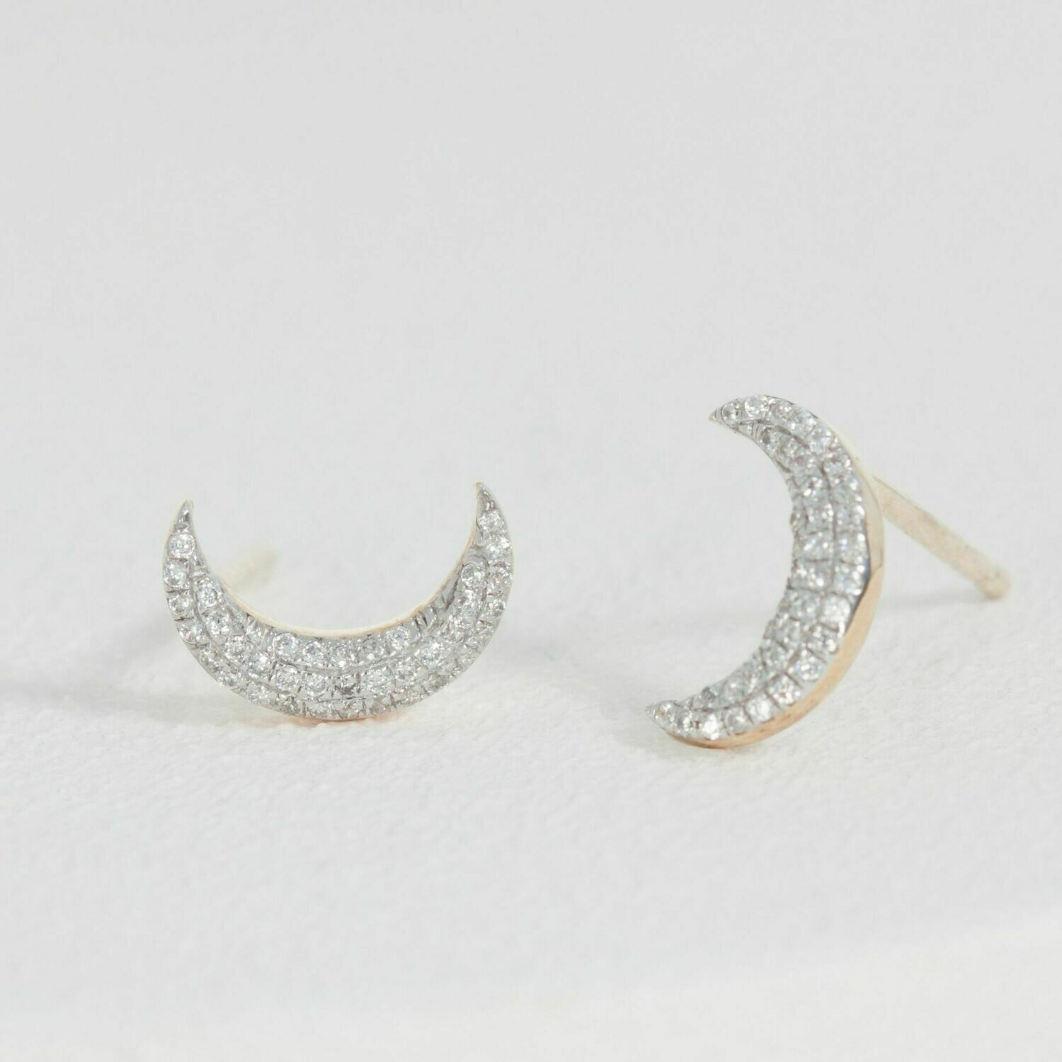 Ella Stein Mini Moons Earrings (Gold)